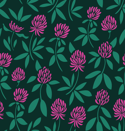 Seamless vector pattern with flowers. Nature background. Floral texture Illustration