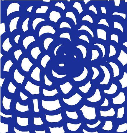 Drawn mandala. Abstract grunge texture