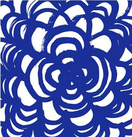 Drawn mandala. Abstract paint texture Illustration