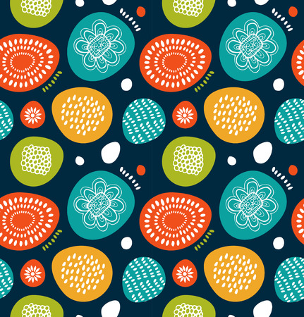Cute decorative pattern in scandinavian style. Abstract background with colorful simple shapes. Cute decorative pattern in scandinavian style Illustration