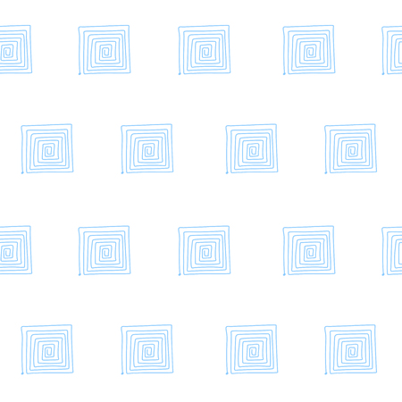 Seamless graphic pattern with labyrinths, mazes. Blue abstract background