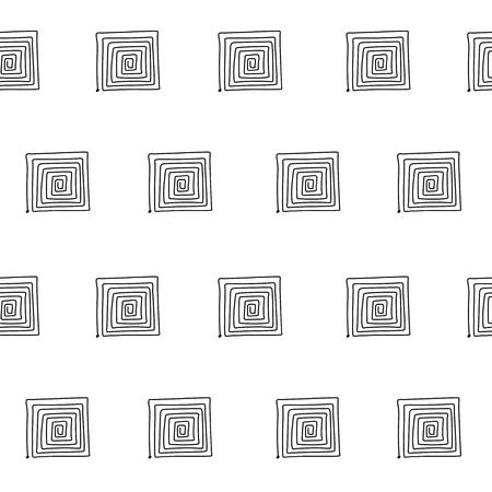 Seamless graphic pattern with labyrinths, mazes. Vector abstract background