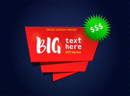 Vector template for web banner, sale border, shopping. Cartoon design with red frame