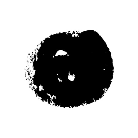 Collection of ink brushstrokes, black stains on white, vector design elements-03