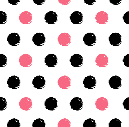 Dotted vector texture. Abstract ink pattern with rose and black stains. Decorative background for textile, wallpapers, cover design, web pages