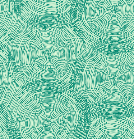 Green seamless spiral pattern. Vector texture, abstract background Illustration