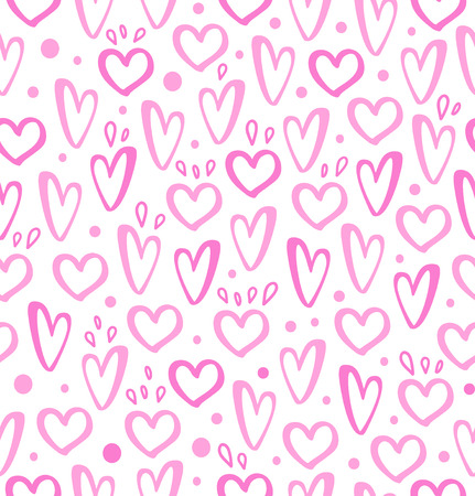 Rose hearts on seamless background Illustration
