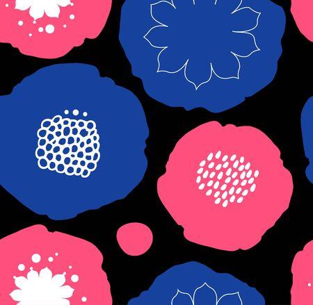 Bloemen decoratief naadloos patroon. Vector abstracte achtergrond met bloemen