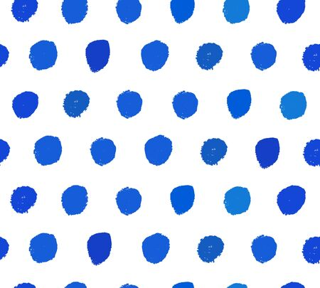 Watercolor blue background. Paint dotted texture. Hand-drawn vector pattern with brushstrokes Illustration