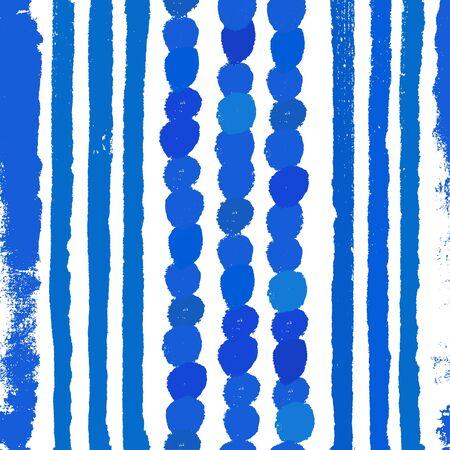 Aquarel blauwe achtergrond. Verf textuur. Hand getrokken vector patroon met penseelstreken