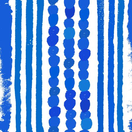 Watercolor blue background. Paint texture. Hand drawn vector pattern with brushstrokes