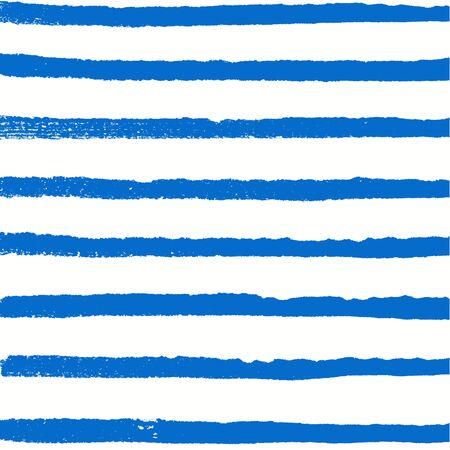 Aquarel blauwe achtergrond. Verf textuur. Hand getrokken vector patroon met rijen van horizontale lijnen
