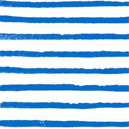 Watercolor blue background. Paint texture. Hand drawn vector pattern with rows of horizontal lines Banco de Imagens - 87000850