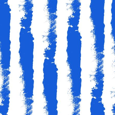 Watercolor blue seamless background. Paint texture. Handdrawn vector pattern with brushstrokes