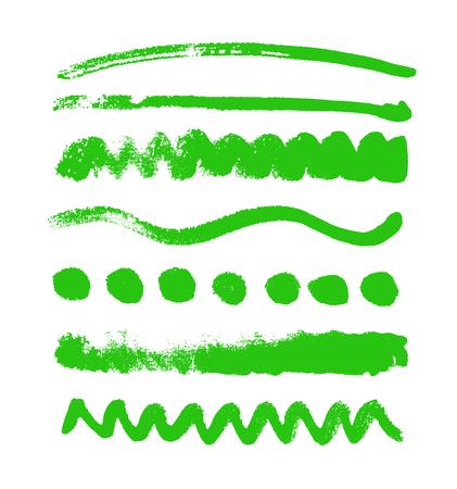 Waterverfvlekken inzameling op witte achtergrond wordt geïsoleerd die. Reeks waterverf groene gekleurde vormen, handdrawn vectortextuur