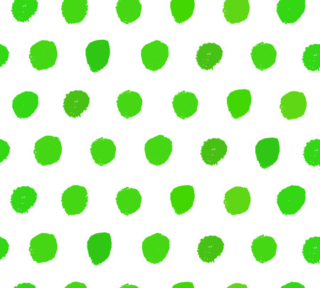 Watercolor green background. Paint dotted texture. Handdrawn vector pattern with brushstrokes