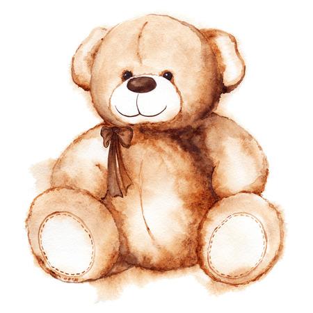 Cartoon mooie Teddy Bear toy Saint Valentijnsdag geïsoleerd. Stockfoto