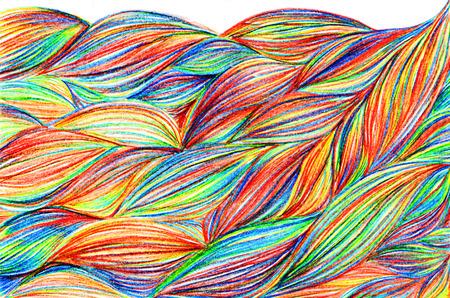 braids: Rainbow colorful braids waves pattern texture background.