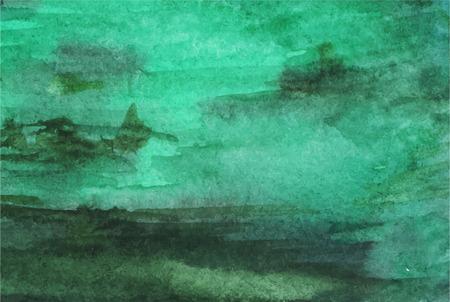 Waterverf het donkergroene smaragd vector textuur achtergrond. Stockfoto - 52405473