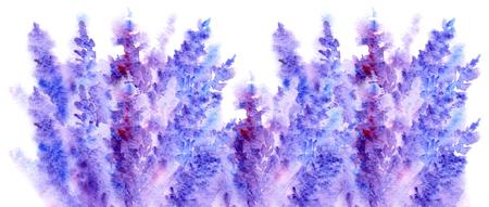 Akwarela kwiat lawendy kwiat abstrakcyjne tekstury tła.