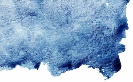 Aquarelle bleu marine abstraite vecteur grunge texture de fond.