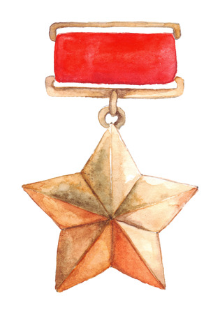 war paint: Star medal 9 May The Great Patriotic War isolated.