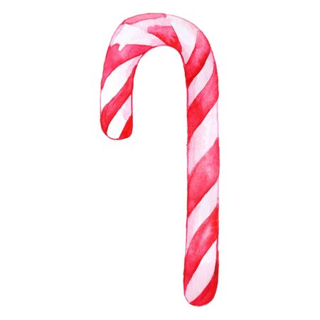 peppermint candy: Christmas sweet peppermint cinnamon candy cane lollipop pink white isolated.