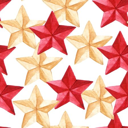 star pattern: Star medal military seamless pattern texture background. Stock Photo