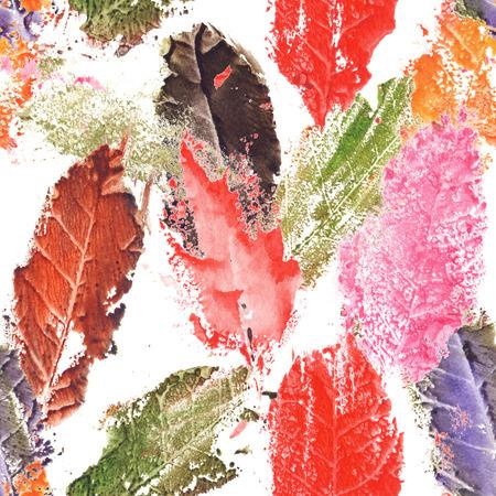 figuras abstractas: La caída del otoño de hoja de árbol seca sin fisuras patrón de textura de fondo.