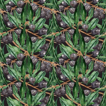 oliva: Olive oliva branches seamless pattern texture background.