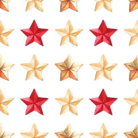 Star medal military vector seamless pattern texture background. Illustration