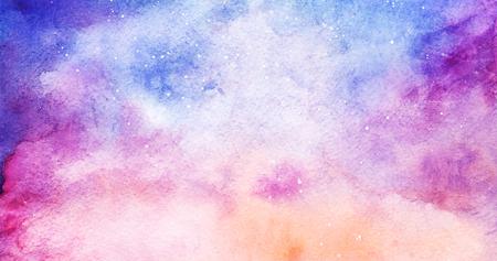 nebula: Watercolor colorful starry space galaxy nebula background.