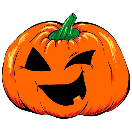 calabazas de halloween: aislado espeluznante de Halloween Jack-o-linterna de calabaza vector vehículo. Vectores