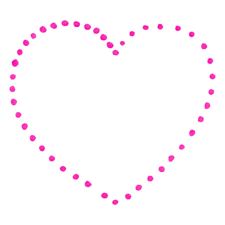 Pink isolated dot heart Saint Valentines Day.
