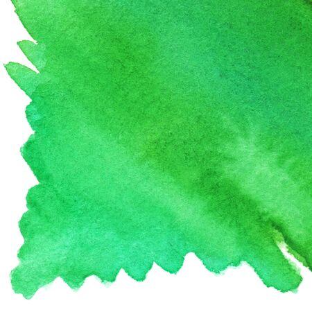 isolated spot: Watercolor green spot backdrop texture background isolated.