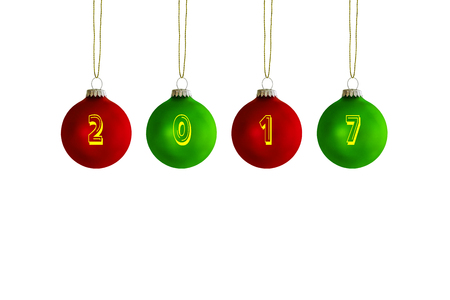 Christmas tree balls with annual number