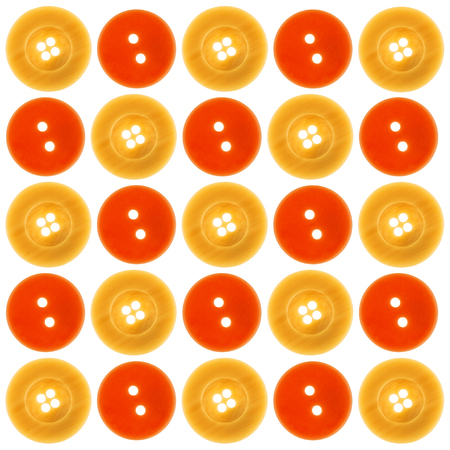 alteration shop: A heap of buttons before white background