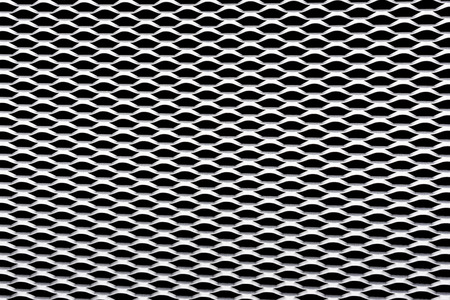 A silver metal grid as a background