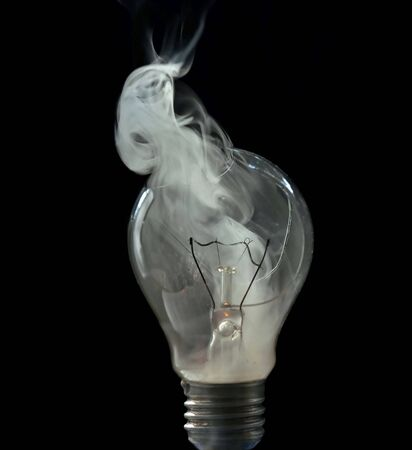 Detail of a cracked bulb Stock Photo - 2153698