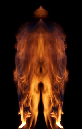 Fiery phantom - abstract picture of the fire Stock Photo - 2214366
