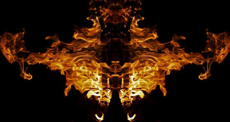 mirage: Fiery demon - abstract picture of the fire