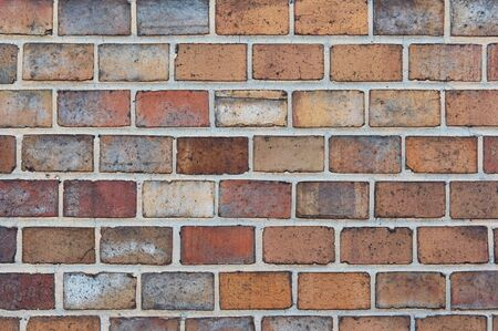 paredes de ladrillos: estructura de mamposter�a - visible enladrillado  Foto de archivo