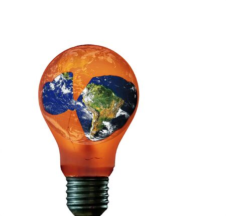 anomalous: about global warming - isolated Stock Photo