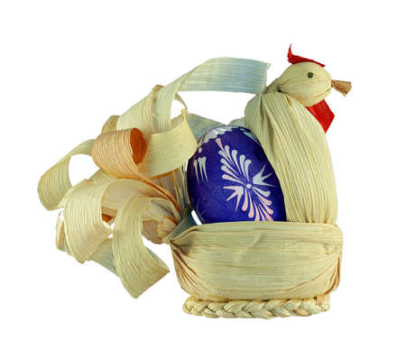 pullet: Shot of the straw Easter pullet