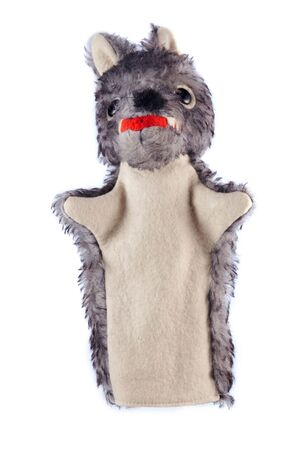 Detail of the hand puppet - wolf Stock Photo - 2649416