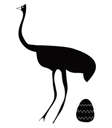 emu: large bird - large egg