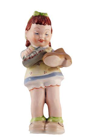 skivvy: old toy - china statuette - shoeblack