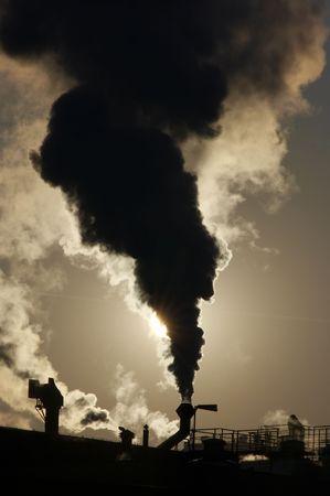 gaseous: gaseous air pollution Stock Photo