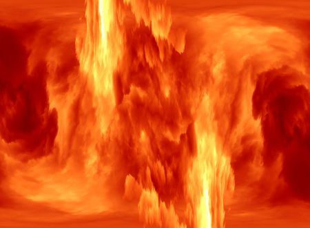 convulsion: fire and flame - detail Stock Photo