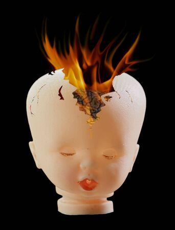 detonating: Abstract image - exploded brain - stress